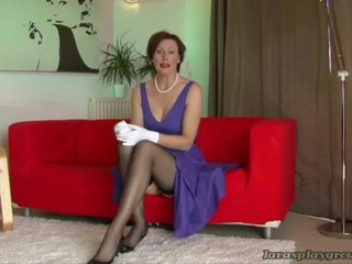 lesbian sex, mature porn, stocking sex