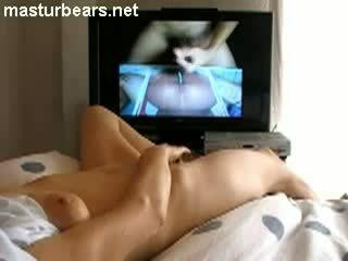 Me Masturbating While Watching Ejaculating Cock