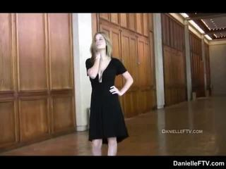 Danielle Rubs Her Pleasant Beaver