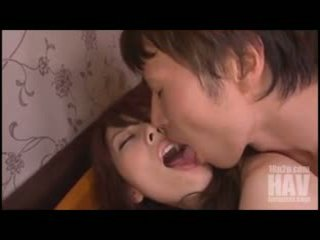 Sexy Japanese babe yui hatano sucks a dick