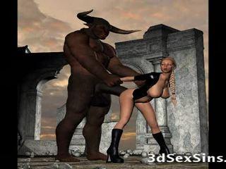 Scary creatures fuck 3d tüdrukud!