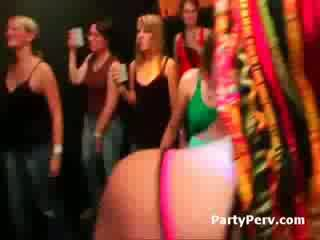 Hot shameless drunk girls blow and fuck strippers all nigh long