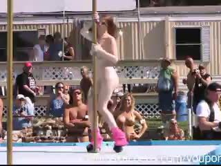Strippers Raw and Naked in Public at Awesome Nudes a Poppin Festival Indiana