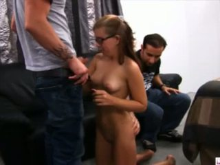 Tabitha Was Fiending For Her Cash Fix So We Agreed To Let Her Audition For One Of Our Videos She Was Willing To Do Anything For Money But By The Time She Realized What We Had In Mind It Was Too Late We Had Already Transformed Her Pleasure Pockets Into Pai