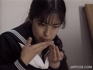 Japanese Hot Sex Scene With Brunette Schoolgirl