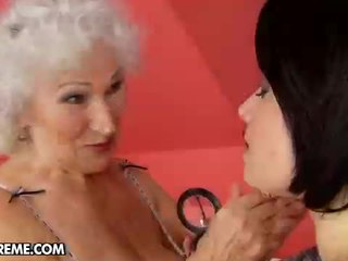 Sexy Young Tess Visits The Mature Norma At Home To Help Her.