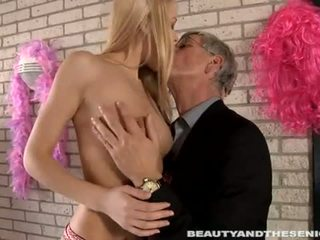 Beauty and the Senior: Sexy Jennys fucking her lucky dirty old man