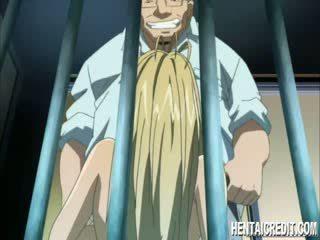 Tvingat mangaen blondie gives huvud
