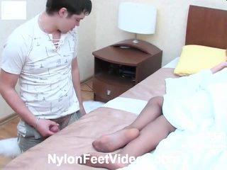 foot fetish, stocking sex