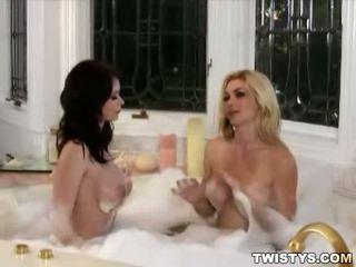 Hot lesbo scene of Emily Addison & Heather Vandeven