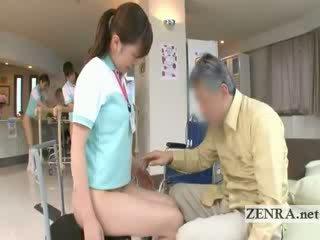 Maduros paciente licks jap nurses conas e ânus