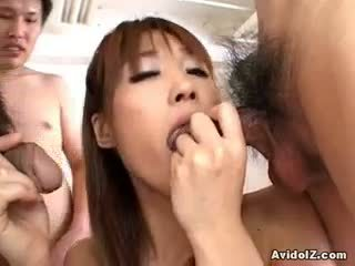 fresh brunette all, new blowjob, great threesome quality