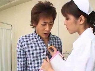 Σέξι Καυτά ασιάτης/ισσα ιαπωνικό νοσοκόμα gives Καυτά τσιμπούκι να αυτήν ασθενής