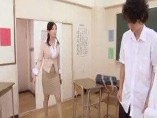 일본의, 교사, jap, 아시아의