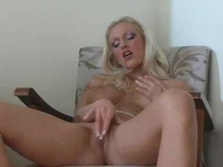 Seductive Blonde Porn Model Masturbating Her Labia