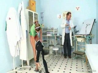 Angela Gyno Peach Exam Around Speculum By Aged Kinky Doctor