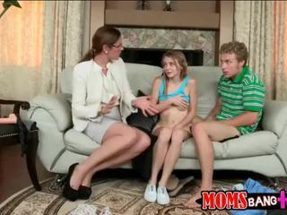 Ava Hardy caught by her stepmom fucking