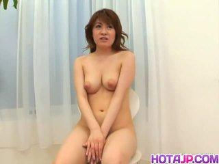 Japanese slut kaori enjoys playing with a cock.