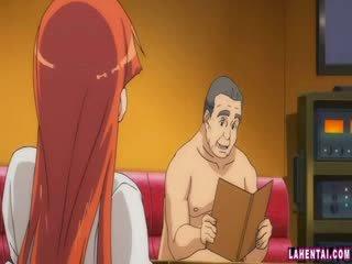 Hentai babe slammed av eldre mann