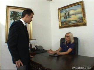 Breathtaking Blonde Chief Bonks Her Employee