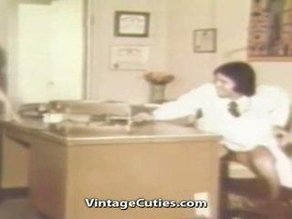 wijnoogst video-, heet klassiek neuken, retro vid