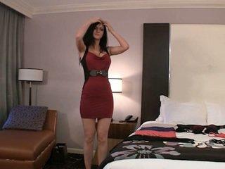 mooi brunette video-, coed gepost, een college meisje gepost