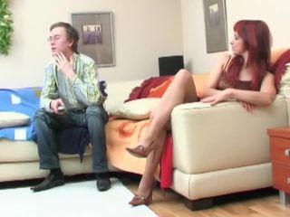 Nerd seduced by redheaded betje eje