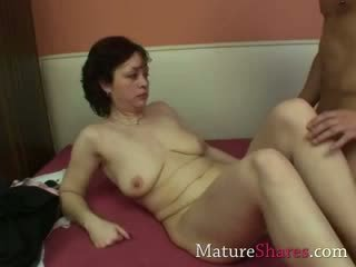 beautiful dark haired MILF and her new horny stud