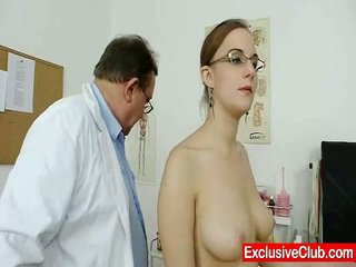 Fat Initiate Chick Not Far From Glasses Fingered By Gyno MD