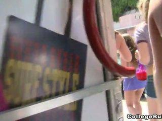 meest coed scène, vol college video-, heet college meisje scène