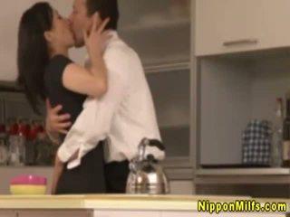 Japanese asian mature kissing