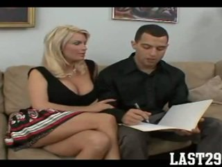 Busty Blonde Cougar Fucks A Hard Young Cock(1)