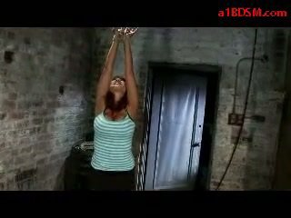 Busty Girl Getting Tied Up Mouthgagged Whipped Pussy Stimulated With Vibrator By Master In The Dungeon