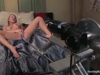 Slender Blondie Shawna Lenee Gives Herself To The Machine