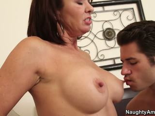 Mom has a couple of thought at what to do with her boyfriend's cock