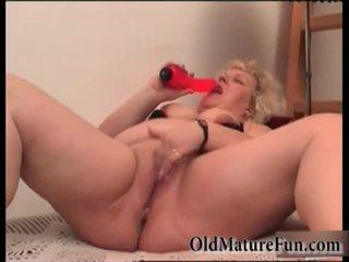 금발의 이전 여자들 놀이 와 지방 고양이 비디오
