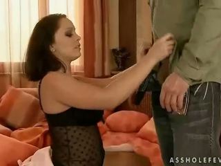 brunette, ass fucking, doggy style, anal