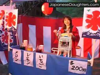 jong, japanse, ruw, dochter