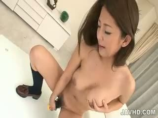 Satomi Suzuki In Her School Uniform Is Detained For Sex Toy