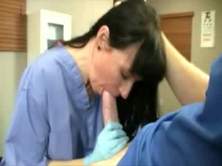 Medic preforming a Blow Job on his chick dong during check up