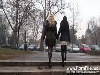 free brunette thumbnail, new lesbo scene, new oral action