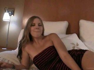 een college meisje film, echt schattig vid, nominale neuken video-