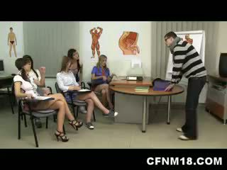 5 Bossy Teens In CFNM Action