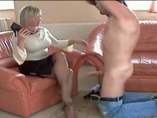 With you mature nylon feet handjob tube