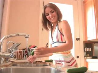 Solo Full Hd Porn Starting with cucumbers Natasha