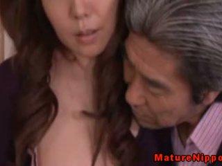 japonais, mature, asiatique