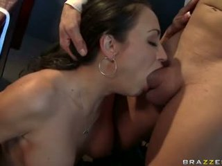 Choking Floozy Claudia Valentine Feeds Her Hungry Face Hole With Her Excellent Sausage