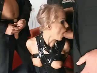 BDSM slut silenced and gets dp