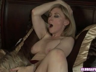 Dyke Paramour Nina Hartley Takes It Sensuous And Fierce Onto Bed Close By Her Doll