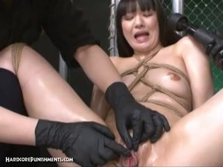 Japanese babe tortured by vibrators